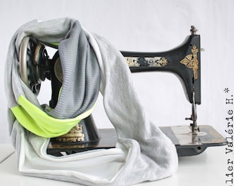 Infinity Scarf, Yellow Fluo & Different Gray