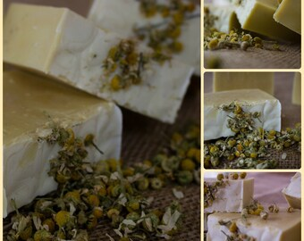 Pure Chamomile Olive Oil Cold Process Soap