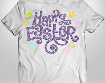 Happy Easter, Easter Shirt, Iron On Transfer, Custom Easter Shirt, Kid Shirt, Easter Iron On, Easter Iron On Transfer, Flowers, Heat Press