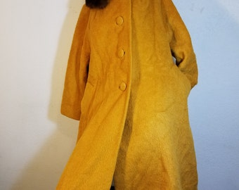 FREE  SHIPPING  Lilli Ann Mohair Fur  Coat