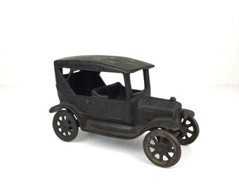 1920s Arcade Cast Iron Ford Sedan Tudor Toy Original Antique Cast Iron Arcade Toy Ford Sedan Cast Iron Toy 1920s Arcade