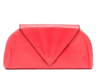 Vintage Sonia Rykiel clutch bag / rarered leather bag
