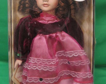 "Collectors Choice Limited Edition Fine Bisque   ""Lil Lady""  Porcelain Doll"