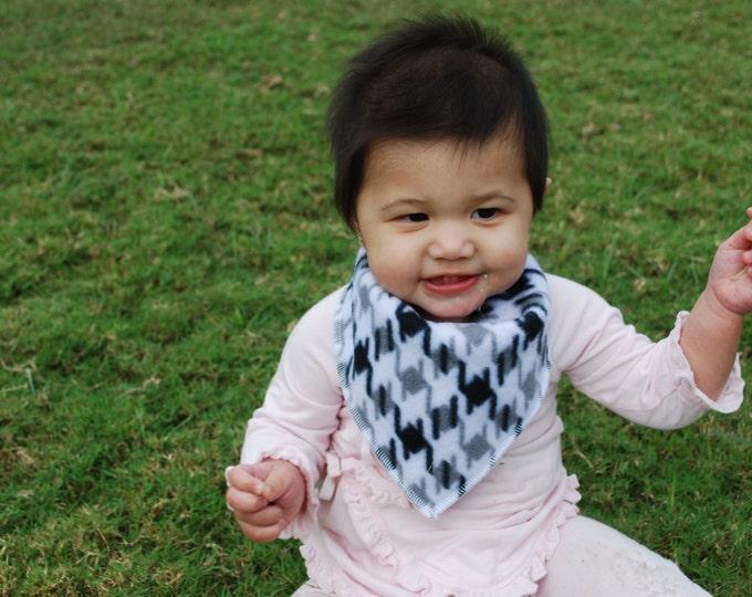 Houndstooth Bandana Baby Scarf - Houndstooth Baby Scarf - Baby Bandana Scarf - Winter Baby Scarf - Baby Boy Scarf - Baby Girl Scarf -Bandana