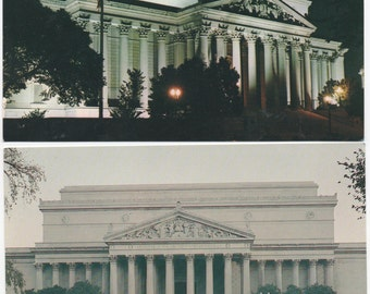 National Archives, 2 Unused Postcards, Washington, Dc, c1980s, good shape