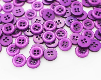 10 Purple Button, Violet Button, Children Baby Button, Raised Edge Button,Four Holes Sewing Button, Shirt Button, Blouse Button, 11mm button