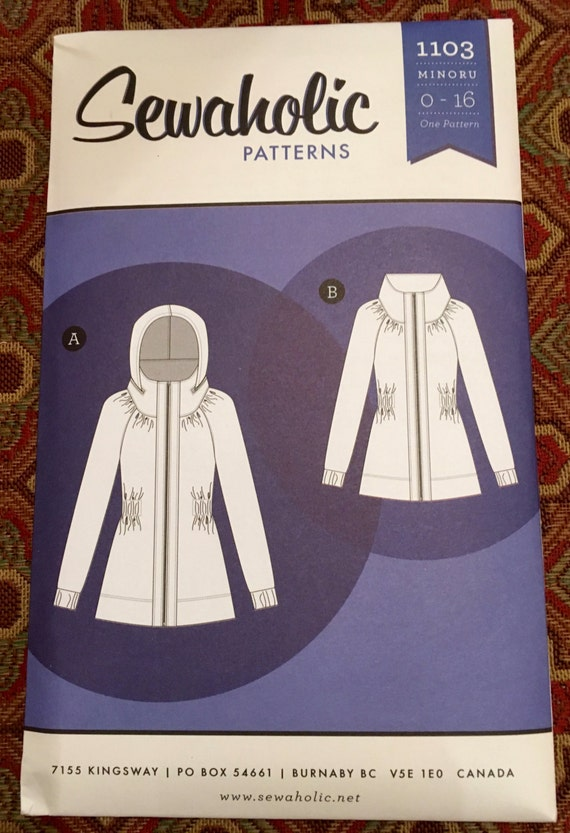 Sewaholic Minoru Jacket, Sizes 0-16, brand new sewing pattern