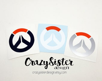 Overwatch Logo Vinyl Decal, Decal for Windows, Cars, Laptops, Water Bottles, Coolers, Mugs and much more!