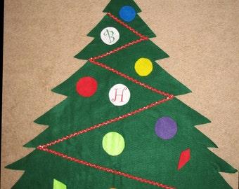 felt christmas tree toddler christmas tree preschool. Black Bedroom Furniture Sets. Home Design Ideas