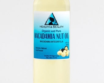 4 oz MACADAMIA NUT OIL Organic Carrier Cold Pressed 100% Pure