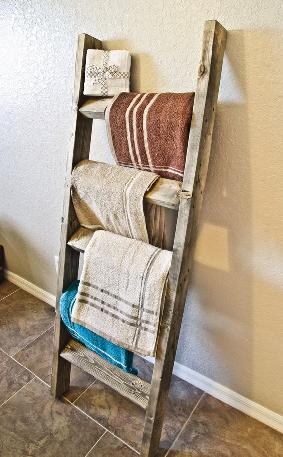 5ft Tall X 23 Width Rustic Antique Blanket Ladder Towel