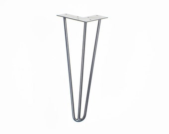 Hairpin Legs All Sizes - 3rod - powder coated metal table legs, diy modern legs, One Metal Leg - Made in USA