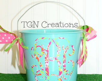 Personalized Lilly Easter Basket Monogrammed Lilly Basket Monogram Easter Pail Teen Easter Basket Personalized Birthday Gift Baby Shower