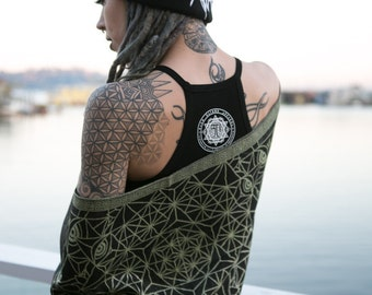 DIVINITY Shawls Collection // Festival Shawls with Sacred Geometry and Third-eye Chakra