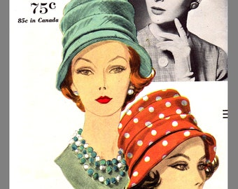 Vogue Millinery Designer John Frederics Hat Fabric material sew pattern # 5019 Copy