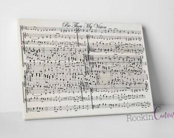 Sheet Music Wall Art anniversary gift for him / sheet music wall art anniversary