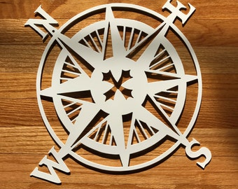 Metal Nautical Compass Rose Wall Hanging Old World / European style