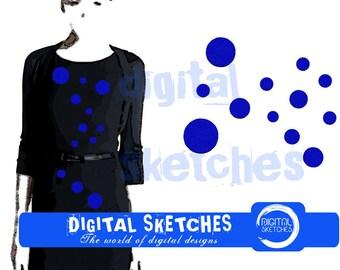 Polka Dots Machine Embroidery Design 4 Sizes