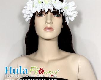 Silk Hawaiian Orchid Haku or Choker Lei for Beach Wedding Party, Hula Dancer, Polynesian Accessories, HB-OR-01