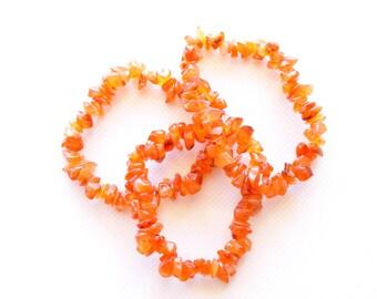 Carnelian Bracelet , Mala , Yoga , Healing Stone , Gift for Her , Boho , Stackable Bracelet , Fertility , Abundance