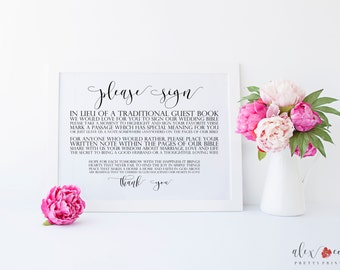 Please Sign Our Bible Printable. Please Sign Our Guestbook Printable. Please Sign. Please Sign Our Guestbook Sign. Wedding Guest Book Sign.