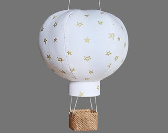 Hot Air Balloon Baby Shower Decoration, Travel Nursery Decor, Baby Gifts - Starry Skies