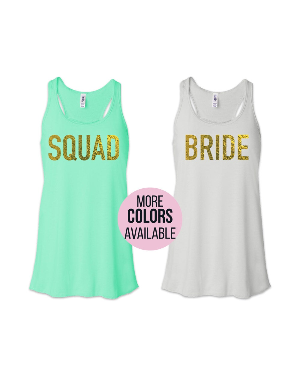 Wedding gift bridesmaid gift bride squad shirts gold bride for Bucket squad gold shirt