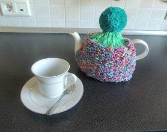 Tea Cosy 'Rainbow' and Tea Pot Gift Set