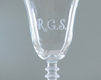Personalised Initials Engraved Wine Glass
