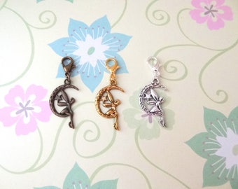 Bronze, Gold or Silver Angel/Fairy Clip On Bracelet Charm/Purse Charm/Zipper Pull Charm/Planner Charm - Ready to Ship
