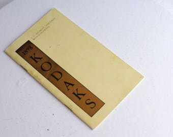 1898 Kodak Brochure - Excellent Condition