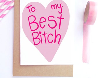 Funny Best Friend Card, Funny Girlfriend Card, Funny Valentine Card, Anti-Valentine, For Her
