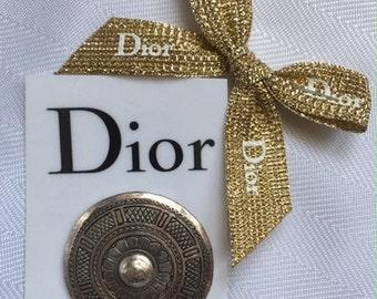 Christian Dior Boutique Silver Brooch circa 1960s
