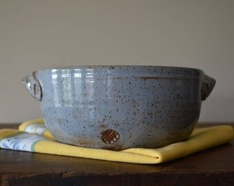 blue baking dish, blue pottery, vegetable dish, bread baking dish, casserole dish, pasta dish