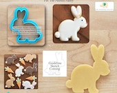 Sweet Bunny Cookie Cutter Easter Cookie Cutter Rabbit Cookie Cutter Designed by The Painted Pastry - **Guideline Sketch to Print Below**