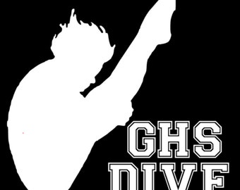 Diving Decal, Gifts for High Divers, Diver Decal, Diving Sticker, Aquatics Decal