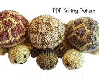 Knitted Tiny Turtle Pattern, PDF Pattern, Knitting Pattern, DIY, Amigurumi, Knitted Turtle, Stuffed Animal, Stuffed toy, Hand Knit Toy, gift