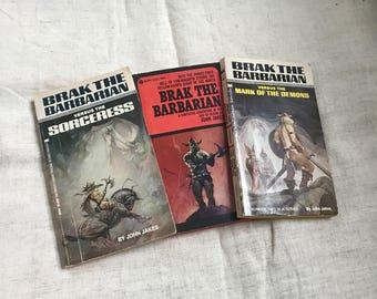 Lot 3 Vintage Paperback Books Brak The Barbarian John Jakes