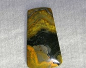 Jasper, Bumble Bee Jasper, Eclipse Jasper, Natural Stone, Wire Wrap, Yellow, Olive, Cabochon, 47mm, Bali, Indonesia