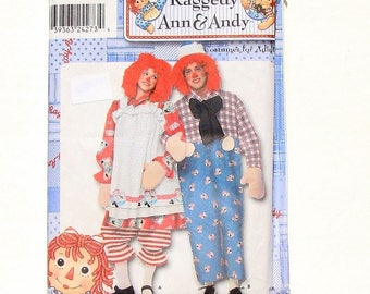 Simplicity Adult Raggedy Ann & Andy Costumes Sewing Pattern #9370 - UNCUT - XXS (30-32) + S (34-36)+M (38-40) + L (42-44) + XL (46-48)