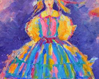 Polish Folk Art Polish Gifts from Poland Polish Folk Costume Polish POSTER Made in Poland Art Polish Woman in Polish Folk Dress  Polska
