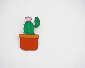 Dark Green Cactus Pin