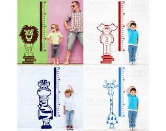 Height Chart Wall Decal Sticker Vinyl Animal Safari Baby Kid Boy Room Nursery