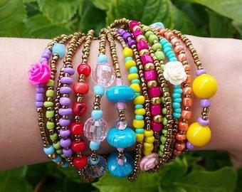 festival jewelery, original bracelet, beaded bracelet, boho chic, boho, bohemian bracelet, portugal, summer bracelets, stackable bracelets
