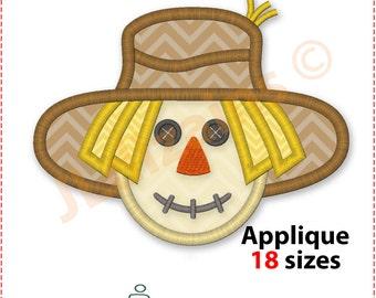 Scarecrow Applique Design. Scarecrow embroidery design. Scarecrow embroidery pattern. Embroidery scarecrow. Machine embroidery design