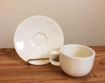 Sasaki Colorstone Birch Cup & Saucer Set Massimo Vignelli Designs
