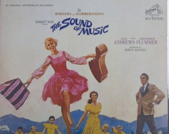 The Sound of Music, Rodgers and Hammerstein, Vintage Record Album, Vinyl LP, Movie Soundtrack, Julia Andrews, Original Movie Recording