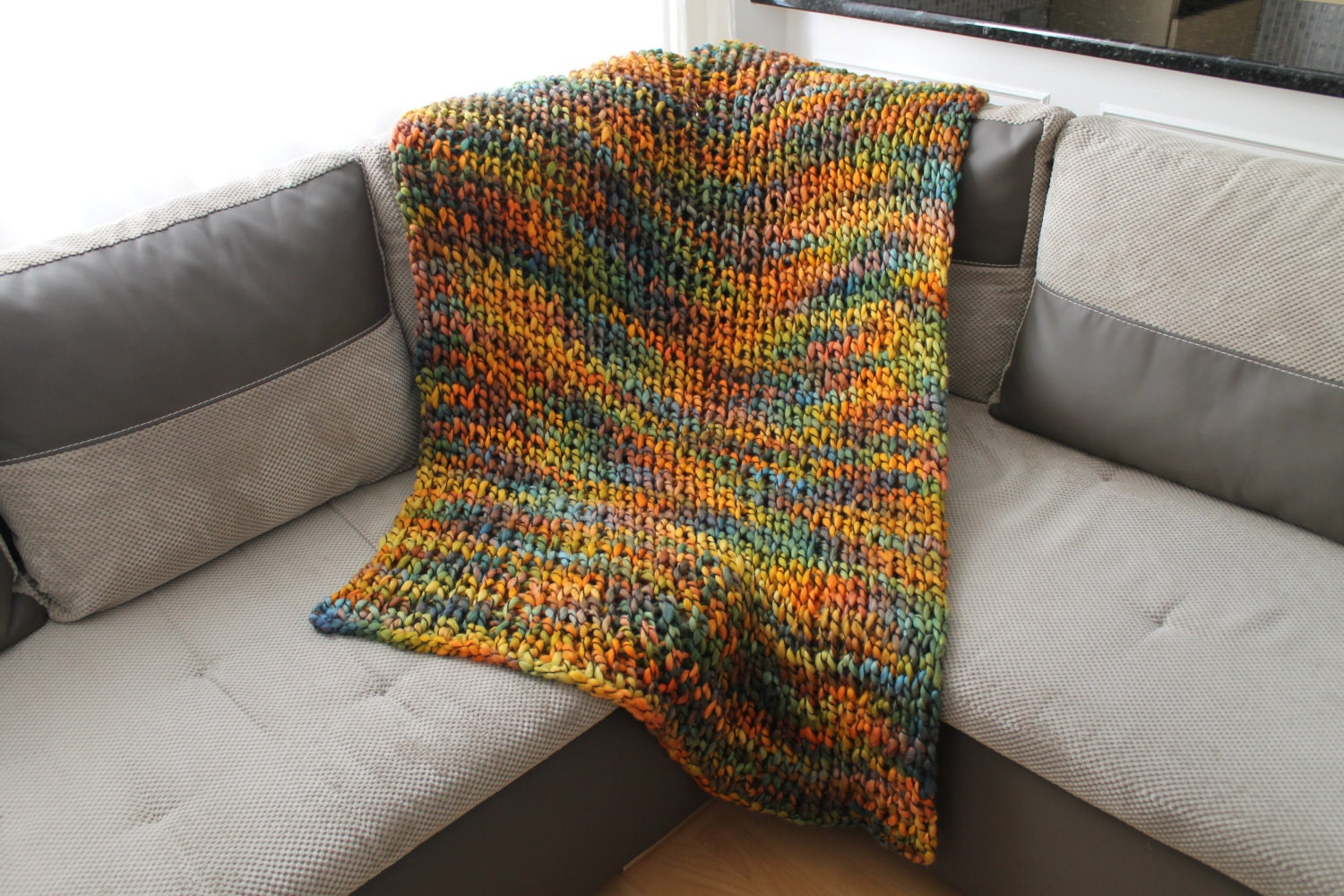 Knit Blanket Pattern Super Bulky : Chunky Knit Blanket Super Bulky Blanket Adult Throw Blanket