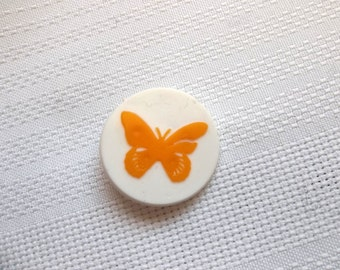 Butterfly Pin, Quebec Socirty for Crippled Children Pin, Charity Pin