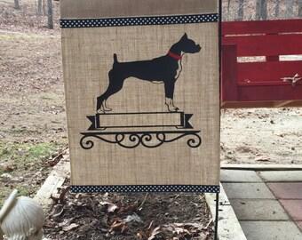 Boxer/Dog/Boxer Dog Garden Flag/Boxer Burlap Garden Flag/Personalized Garden Flag/Lawn Decor